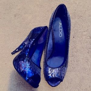 Aldo blue sequins shoes